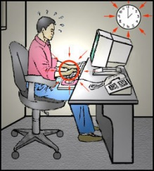 Maintaining poor sitting postures for long periods of time